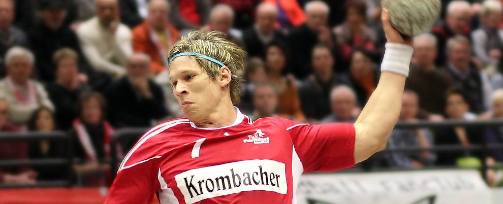 Krombacher Brauerei als Trikotsponsor beim Herren-Handball