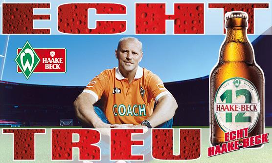 Haake-Beck mit Thomas Schaaf (Trainer von Werder Bremen)